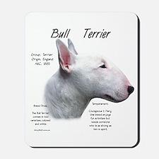 Bull Terrier (white) Mousepad