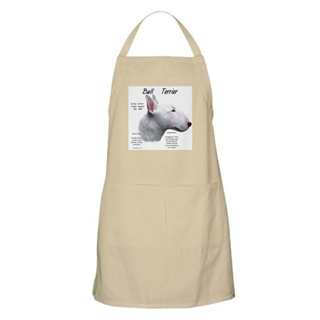 White Bull Terrier BBQ Apron