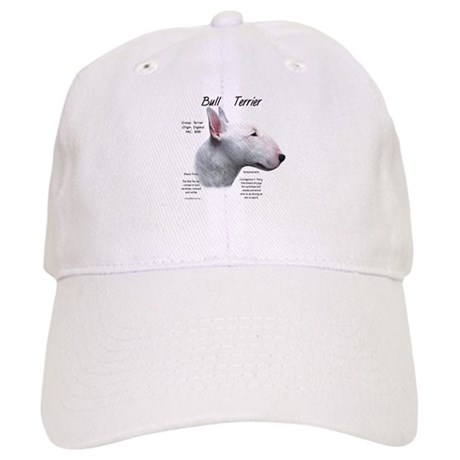 White Bull Terrier Cap