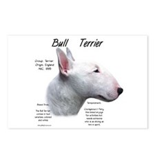 White Bull Terrier Postcards (Package of 8)