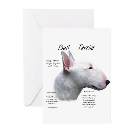 White Bull Terrier Greeting Cards (Pk of 10)