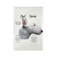 White Bull Terrier Rectangle Magnet