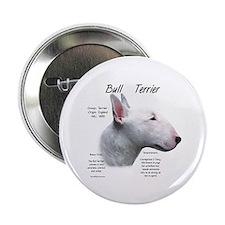 White Bull Terrier Button