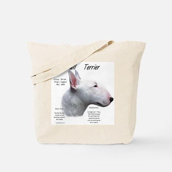 Bull Terrier (white) Tote Bag