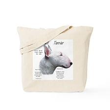 White Bull Terrier Tote Bag