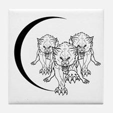 Wolf Pack Vector Tile Coaster