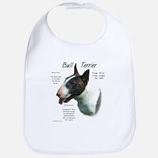 Bull Terrier (colored) Cotton Baby Bib