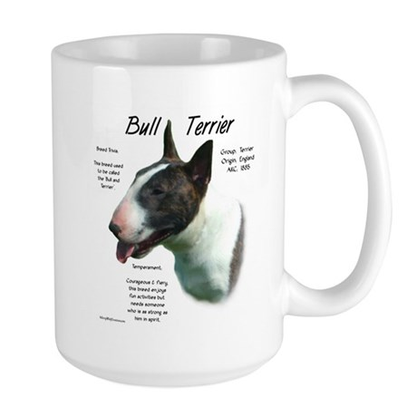 Colored Bull Terrier Large Mug