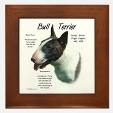 Colored Bull Terrier Framed Tile