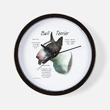 Bull Terrier (colored) Wall Clock