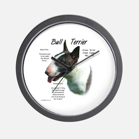 Bull Terrier (colored) Wall Clock