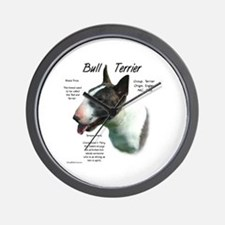 Colored Bull Terrier Wall Clock