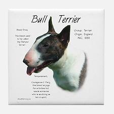 Colored Bull Terrier Tile Coaster