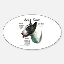 Colored Bull Terrier Oval Decal
