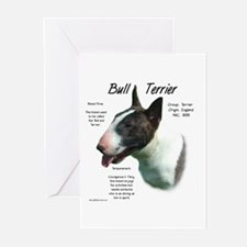 Colored Bull Terrier Greeting Cards (Pk of 10)