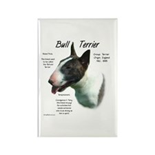 Colored Bull Terrier Rectangle Magnet