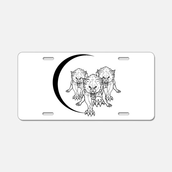 Wolf Pack Vector Aluminum License Plate