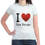i-love-san-diego.png Jr. Ringer T-Shirt