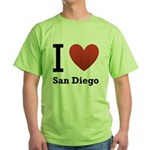 i-love-san-diego.png Green T-Shirt