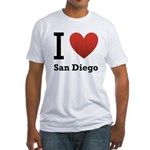 i-love-san-diego.png Fitted T-Shirt
