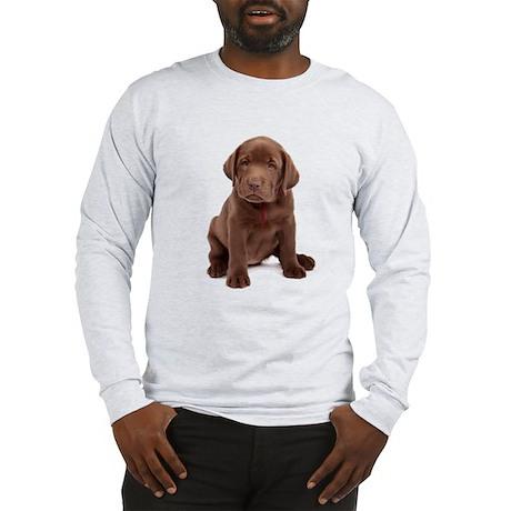 Chocolate Labrador Puppy. Long Sleeve T-Shirt