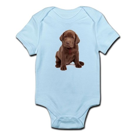 Chocolate Labrador Puppy. Infant Bodysuit
