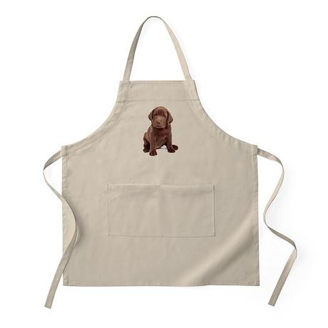 Chocolate Labrador Puppy. Apron