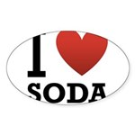 i-love-soda.png Sticker (Oval 10 pk)