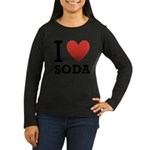 i-love-soda.png Women's Long Sleeve Dark T-Shirt