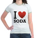 i-love-soda.png Jr. Ringer T-Shirt