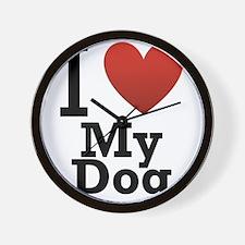 i-love-my-dog.png Wall Clock