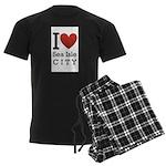 sea isle city rectangle.png Men's Dark Pajamas