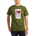 sea isle city rectangle.png Organic Men's T-Shirt