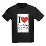 sea isle city rectangle.png Kids Dark T-Shirt