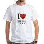 sea isle city rectangle.png White T-Shirt