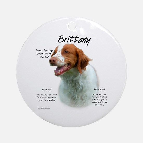 Brittany Round Ornament