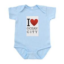 I <3 Ocean City Infant Bodysuit