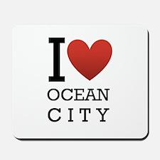 I <3 Ocean City Mousepad
