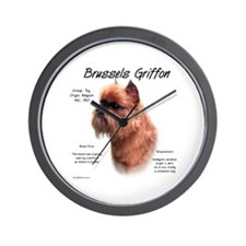 Rough Brussels Griffon Wall Clock
