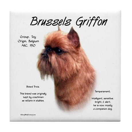 Rough Brussels Griffon Tile Coaster
