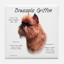 Rough Brussels Griffon Tile Coaster