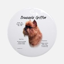 Rough Brussels Griffon Ornament (Round)