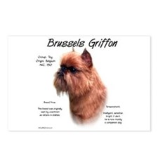 Rough Brussels Griffon Postcards (Package of 8)