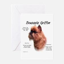 Rough Brussels Griffon Greeting Cards (Package of
