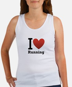 I Love Running Women's Tank Top