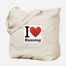 I Love Running Tote Bag