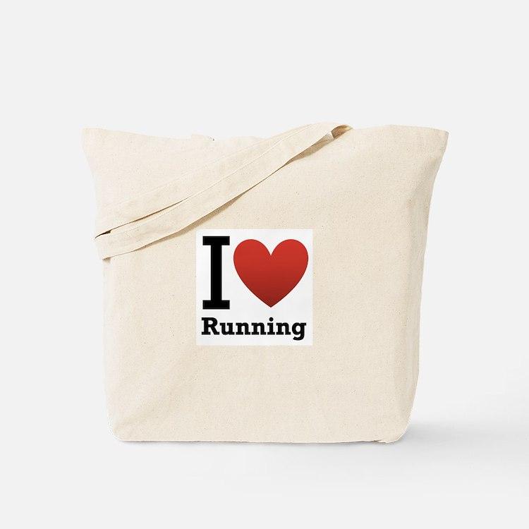 I Love Running Tote Bag