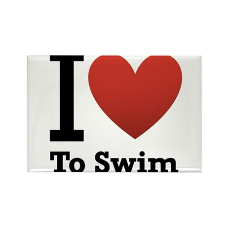 I love to swim Rectangle Magnet (10 pack)