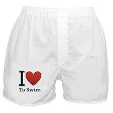 I love to swim Boxer Shorts