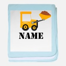Personalized Digger baby blanket